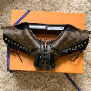 Louis Vuitton Enkellaarzen zwart-bruin