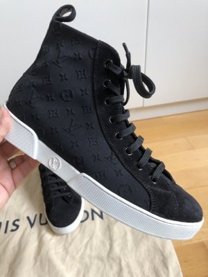 Louis Vuitton Stellar sneaker boot high top zippy Monogram Leder