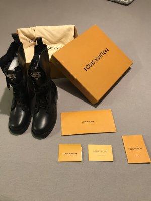 Louis Vuitton Kozaki sznurowane czarny