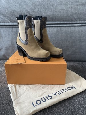 Louis Vuitton Western Booties sand brown-light brown suede