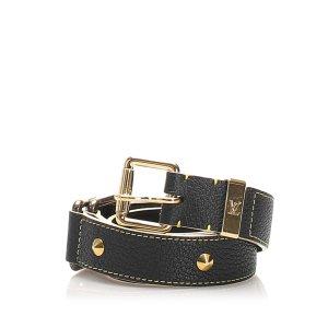 Louis Vuitton Cinturón negro Cuero