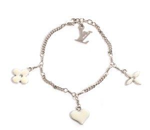 Louis Vuitton Bracciale charm argento-crema
