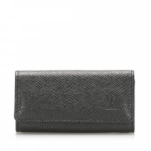 Louis Vuitton Estuche para llaves negro Cuero