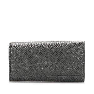 Louis Vuitton Etui na klucze czarny Skóra