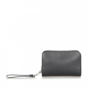 Louis Vuitton Clutch zwart Leer