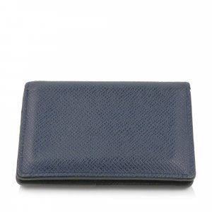 Louis Vuitton Custodie portacarte blu Pelle