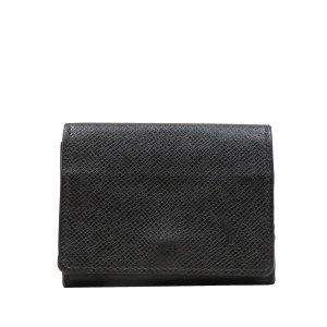 Louis Vuitton Tarjetero negro Cuero