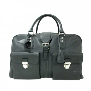 Louis Vuitton Travel Bag black leather