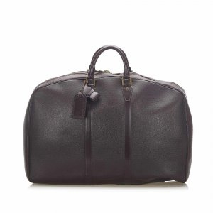 Louis Vuitton Travel Bag dark brown leather