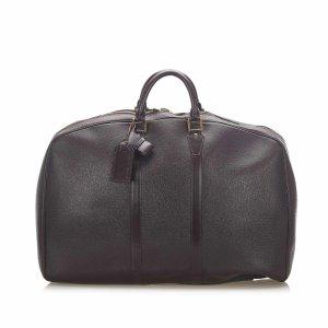 Louis Vuitton Sac de voyage brun foncé cuir