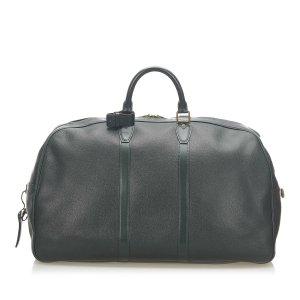 Louis Vuitton Borsa da viaggio verde scuro Pelle