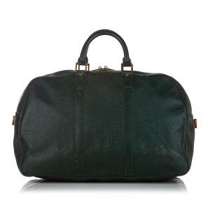 Louis Vuitton Bolso de viaje verde oscuro Cuero