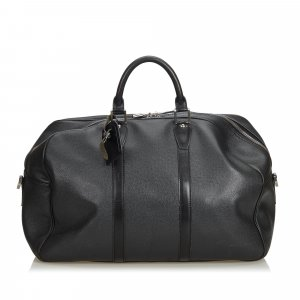 Louis Vuitton Bolso de viaje negro Cuero