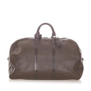 Louis Vuitton Travel Bag dark brown leather