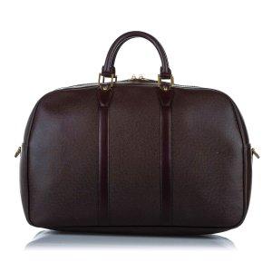 Louis Vuitton Torba podróżna ciemnobrązowy Skóra