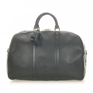 Louis Vuitton Travel Bag dark green leather