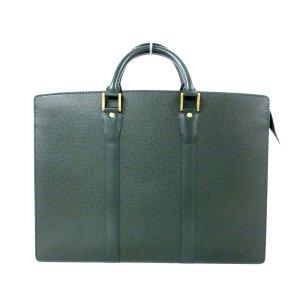 Louis Vuitton Business Bag dark green leather