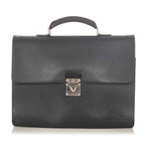 Louis Vuitton borsa ventiquattrore nero Pelle