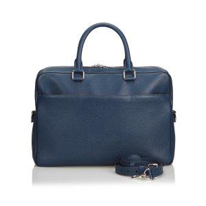 Louis Vuitton Bolso business azul Cuero
