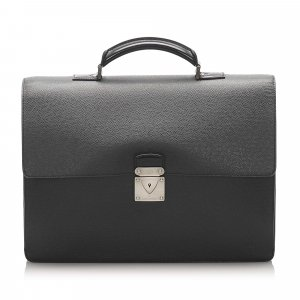 Louis Vuitton Business Bag dark grey leather
