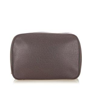 Louis Vuitton Pouch Bag dark brown leather