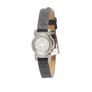 Louis Vuitton Horloge zwart Edelstaal