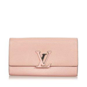 Louis Vuitton Portemonnee lichtroze Leer