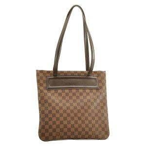 Louis Vuitton Tote bruin Textielvezel
