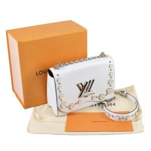 Louis Vuitton Twist MM Epi Leder Handtasche Weiß @mylovelyboutique.com