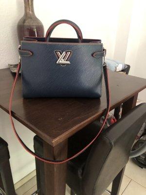 Louis Vuitton Twist Tote in dunkel Blau mit Rechnung.