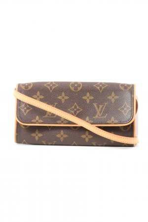 Louis Vuitton Umhängetasche braun-nude Allover-Druck Casual-Look