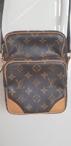 LOUIS VUITTON Umhängetasche aus Canvas in Braun