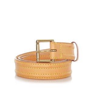 Louis Vuitton Cinturón marrón claro Cuero
