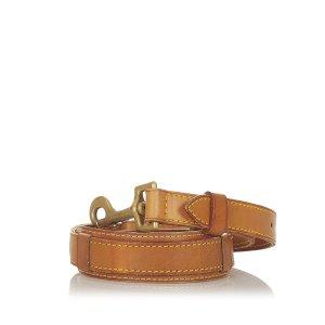 Louis Vuitton Minibolso marrón claro Cuero