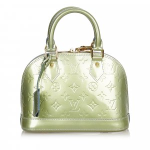 Louis Vuitton Sacoche vert faux cuir