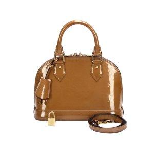 Louis Vuitton Sacoche marron clair faux cuir