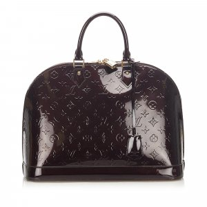 Louis Vuitton Handbag purple imitation leather