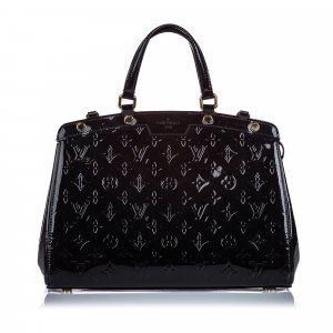 Louis Vuitton Satchel black imitation leather