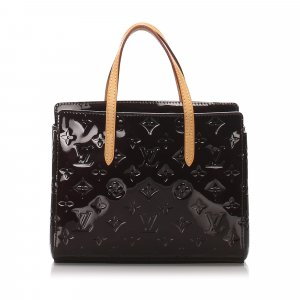Louis Vuitton Sac à main brun faux cuir
