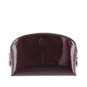 Louis Vuitton Pouch Bag purple imitation leather
