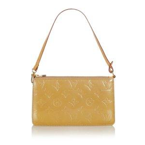 Louis Vuitton Bolso amarillo Imitación de cuero