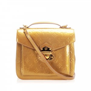 Louis Vuitton Satchel gold-colored imitation leather