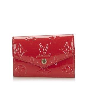 Louis Vuitton Etui voor sleutels rood Imitatie leer
