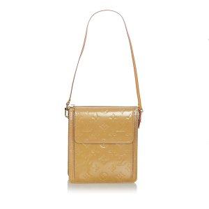 Louis Vuitton Bolsa de hombro beige Imitación de cuero