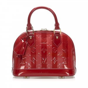 Louis Vuitton Sacoche rouge faux cuir