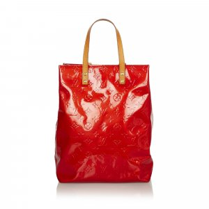 Louis Vuitton Tote red imitation leather