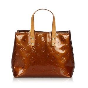 Louis Vuitton Bolso color bronce Imitación de cuero