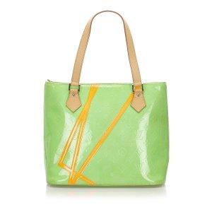 Louis Vuitton Sac à main vert faux cuir