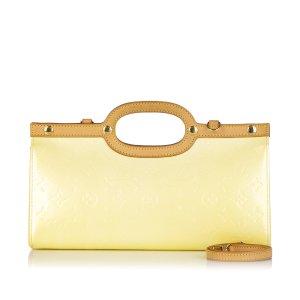 Louis Vuitton Sacoche beige faux cuir