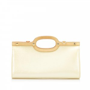 Louis Vuitton Satchel white imitation leather